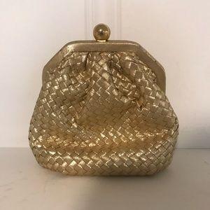 Vintage La Regale Gold Evening Purse / Clutch